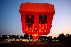 Ferrara Hot Air Balloons Festival 2008 Royalty Free Stock Images