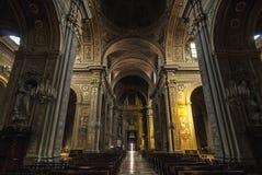 Ferrara - interno della cattedrale Fotografie Stock Libere da Diritti