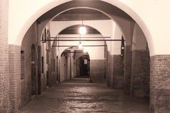 Ferrara (Itália), pórtico Imagem de Stock