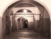 Ferrara (Itália), pórtico Imagens de Stock