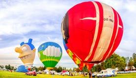 Ferrara, Italië, 09-17-2016: kleurrijke ballons bij Ferrara Bal Stock Afbeeldingen