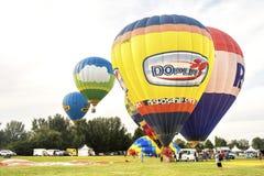 Ferrara, Italië 16 September 2016 - vele kleurrijke hete luchtballon Royalty-vrije Stock Fotografie