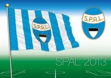 FERRARA, ITALIA, AÑO 2017 - campeonato del fútbol de Serie A, bandera 2017 del equipo de SPAL