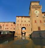 Ferrara (Italien), Castello Estense Stockbild