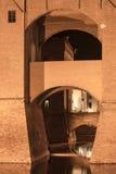 Ferrara (Italien), medeltida slott Royaltyfria Foton