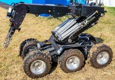 Ferrara, Italy 16 September 2016 - A Bomb Disposal Robot Unit Us Stock Photography