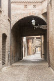 Ferrara (Italy). Ferrara (Emilia-Romagna, Italy): typical street in the medieval quarter Royalty Free Stock Images