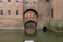 Este Castle Castello Estense di Ferrara royalty free stock photo