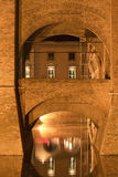 Ferrara (Italy), medieval castle Stock Photography