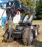 Ferrara, Italy 16 September 2016 - a  bomb disposal robot unit u Royalty Free Stock Images