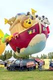 Ferrara, Italy 16 September 2016 - giant hot air balloon in the Stock Photos