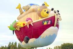Ferrara, Italy 16 September 2016 - giant hot air balloon in the Royalty Free Stock Photography