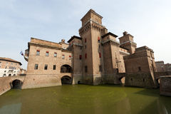 Ferrara - The medieval castle Royalty Free Stock Photos