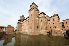 Ferrara - The medieval castle Stock Photo