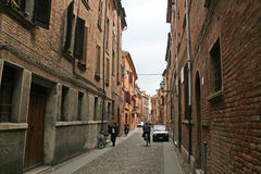 Ferrara old buildings Stock Photo