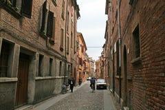 Ferrara old buildings Stock Photo