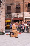 Ferrara, the traditional gathering of the buskers Royalty Free Stock Photography