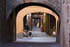 Ferrara, via delle Volte Immagini Stock