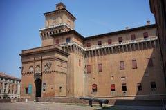 Ferrara, widok miasta ` s kasztel fotografia stock