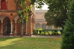 Ferrare, Italie Les jardins de cimetière de ville Image stock