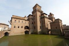 Ferrare - le château médiéval Photos libres de droits