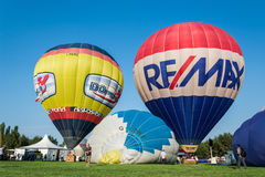 Ferrare monte en ballon le festival 2014, Italie Images stock