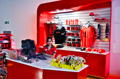 Ferrari świat w Abu Dhabi UAE Fotografia Stock