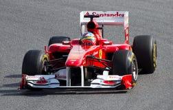 ferrari του Alonso f1 Fernando Στοκ Φωτογραφίες