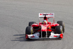 ferrari του Alonso f1 Fernando Στοκ φωτογραφία με δικαίωμα ελεύθερης χρήσης