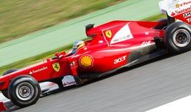 ferrari του Alonso f1 Fernando Στοκ φωτογραφίες με δικαίωμα ελεύθερης χρήσης