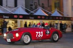 Ferrari 166MM/195S at 1000 Miglia 2010 royalty free stock image