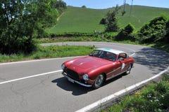 Ferrari 250 GT - 1955 -Vernasca Silver Flag 2011. An historic Ferrrari 250 Europa Gt  - 1955 - at Vernasca Silver Flag 2011,  the main Italian Hillclimb Concours Stock Photos