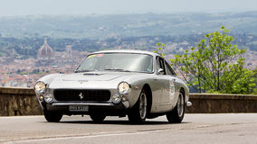 FERRARI 250 GT Berlinetta lusso (1963). Along Via Bolognese (Florence, Italy) during the 1000 miles, on May 19th 2012 Stock Images