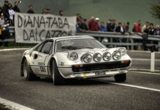 Ferrari 308 GTB. On race during the 10th edition of Rally Legend  historical rally in San Marino repubblic ; 14th october 2012 Stock Images