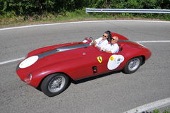 Ferrari 340 1953 -Vernasca Silver Flag 2011 Stock Photo