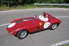 Ferrari 340 1953 - Vernasca Zilveren Vlag 2011 Stock Foto