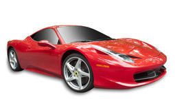 Ferrari 458 on white, isolated royalty free stock images