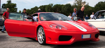 Ferrari 360 Modena. The Challenge Stradale was a limited production of 360 Modena Royalty Free Stock Images