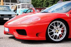 Ferrari 360 modena challenge. Ferrari F360 modena challenge parked on a car meeting Royalty Free Stock Photo