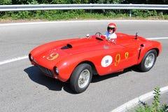 Ferrari 375 1953 - Vernasca Zilveren Vlag 2011 Stock Afbeelding