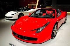 Ferrari 458 de sportwagen van de Spin Stock Foto's