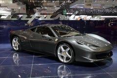 Ferrari 458 demostración 2010 de motor de Italia - Ginebra Fotografía de archivo