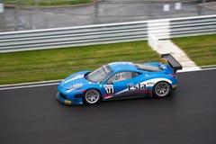 Ferrari 458 FIA GT på racen Arkivbild