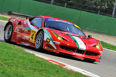 Ferrari 458 GT in Monza race track Royalty Free Stock Photos