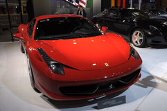 Ferrari 458 Italia. Italy famous brand,Ferrari 458 Italia sports car, in its exhibition hall,in 2010 international Auto-show GuangZhou. it is from 20/12/2010 to Royalty Free Stock Images