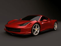 Ferrari 458 italia. Very beautiful 3d rendering of restyled ferrari 458 italia Royalty Free Stock Image