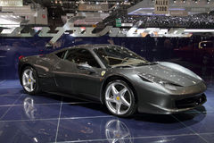 Ferrari 458 Italien - Genf Autoausstellung 2010 Stockfotografie