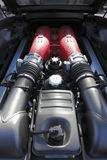 Ferrari 458 motor Stock Foto's