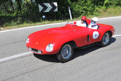Ferrari 500 Mondial -Vernasca Silver Flag 2011 Royalty Free Stock Photo