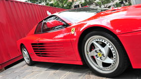 Ferrari 512 on display Stock Photography